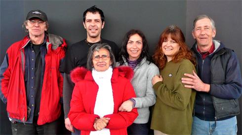 De gauche à droite : Alain Gauthier, Stéphane Lécuyier, Franca Cerbo, Debora Cerbo, Geneviève Laroche, Jacques Jolicoeur